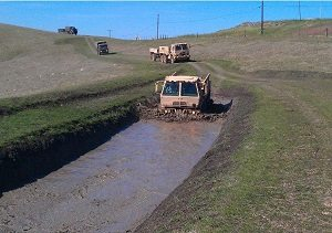 Vehicle training course at Camp San Luis Obispo