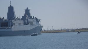 picture of USS New Orleans docked at Naval Weapons Station Seal Beach